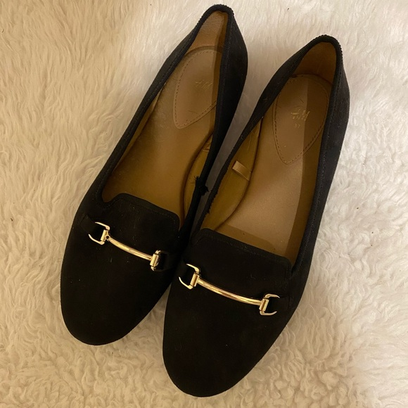 H&M loafer buckle flats